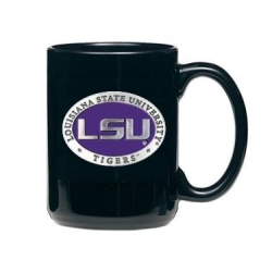 Louisiana State University Black Coffee Cup - Enameled