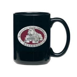 "Mississippi State University ""Bulldogs"" Black Coffee Cup - Enameled"