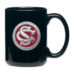"University of South Carolina ""SC"" Black Coffee Cup - Enameled"
