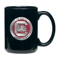 "University of South Carolina ""Gamecocks"" Black Coffee Cup - Enameled"