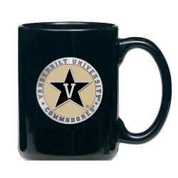 Vanderbilt University Black Coffee Cup - Enameled