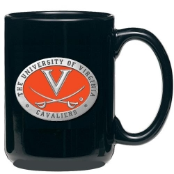 University of Virginia Black Coffee Cup - Enameled