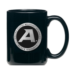 "Army ""Black Knight's"" Black Coffee Cup - Enameled"