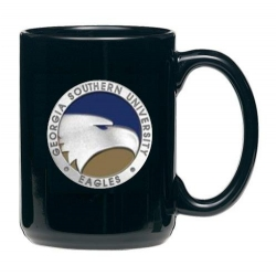 Georgia Southern University Black Coffee Cup - Enameled