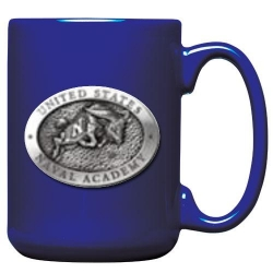 "Naval Academy ""Bill the Goat"" Cobalt Coffee Cup"
