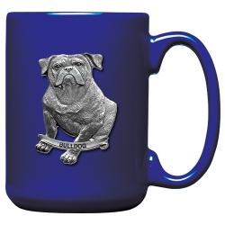 Bulldog Cobalt Coffee Cup