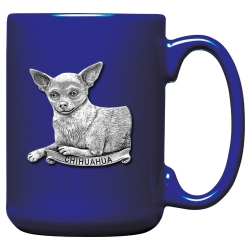 Chihuahua Cobalt Coffee Cup
