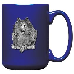 Collie Cobalt Coffee Cup