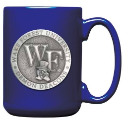 """Wake Forest University """"WF"""" Cobalt Coffee Cup"""