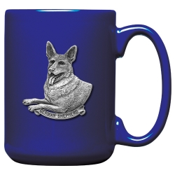 German Shepherd Cobalt Coffee Cup
