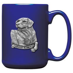 Labrador Retriever Cobalt Coffee Cup
