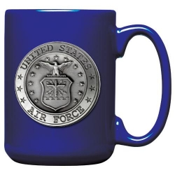 Air Force Cobalt Coffee Cup