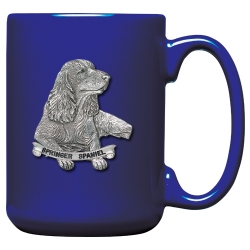 Springer Spaniel Cobalt Coffee Cup