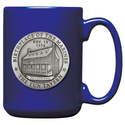 "Marine Corps ""Historic"" Cobalt Coffee Cup"