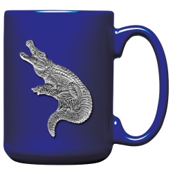 Alligator Cobalt Coffee Cup