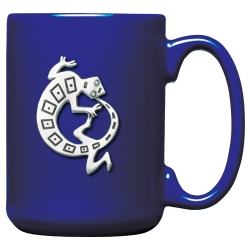 Lizard Cobalt Coffee Cup