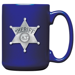Sheriff Cobalt Coffee Cup