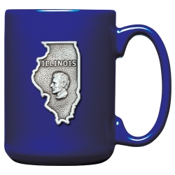 Illinois Cobalt Coffee Cup