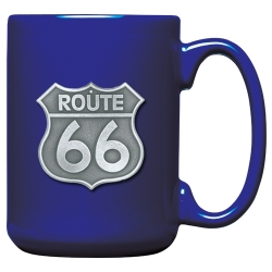 Route 66 Cobalt Coffee Cup