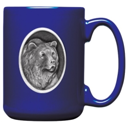 Grizzly Bear Cobalt Coffee Cup