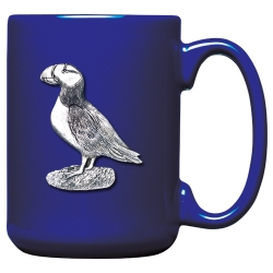 Puffin Cobalt Coffee Cup