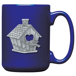 Birdhouse Cobalt Coffee Cup