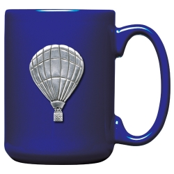 Hot Air Balloon Cobalt Coffee Cup