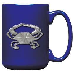 Blue Crab Cobalt Coffee Cup