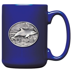 Dolphin Cobalt Coffee Cup