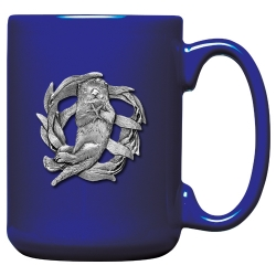 Sea Otter Cobalt Coffee Cup