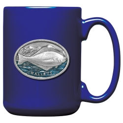 Halibut Cobalt Coffee Cup - Enameled