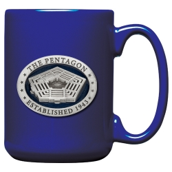 Pentagon Cobalt Coffee Cup - Enameled