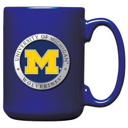 University of Michigan Cobalt Coffee Cup - Enameled