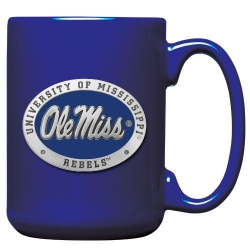 University of Mississippi Cobalt Coffee Cup - Enameled