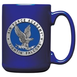Air Force Academy Cobalt Coffee Cup - Enameled