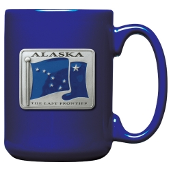 Alaska Cobalt Coffee Cup - Enameled
