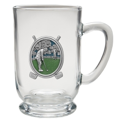 "Golf ""Putter"" Clear Coffee Cup - Enameled"