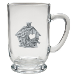 Birdhouse Clear Coffee Cup