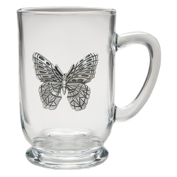 Butterfly Clear Coffee Cup