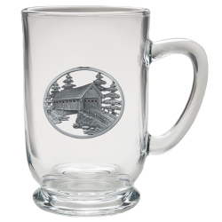 Covered Bridge Clear Coffee Cup