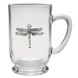 Dragonfly Clear Coffee Cup