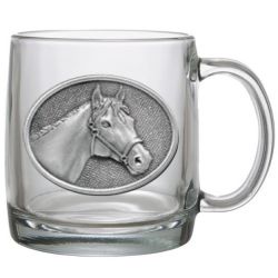 Racehorse Clear Coffee Cup