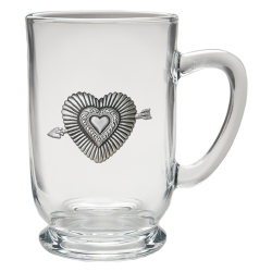 Heart Clear Coffee Cup
