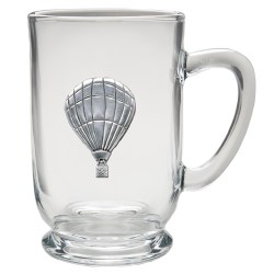 Hot Air Balloon Clear Coffee Cup