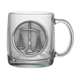 Law - Scales of Justice Clear Coffee Cup
