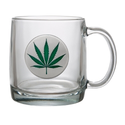 Marijuana Clear Coffee Cup - Enameled