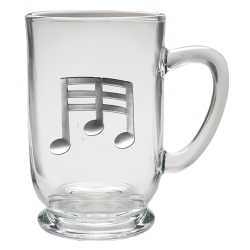 Musical Notes Clear Coffee Cup