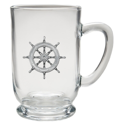 Ship Wheel Clear Coffee Cup