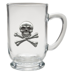 Skull & Bones Clear Coffee Cup