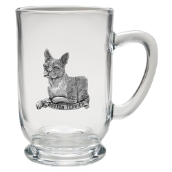 Boston Terrier Clear Coffee Cup